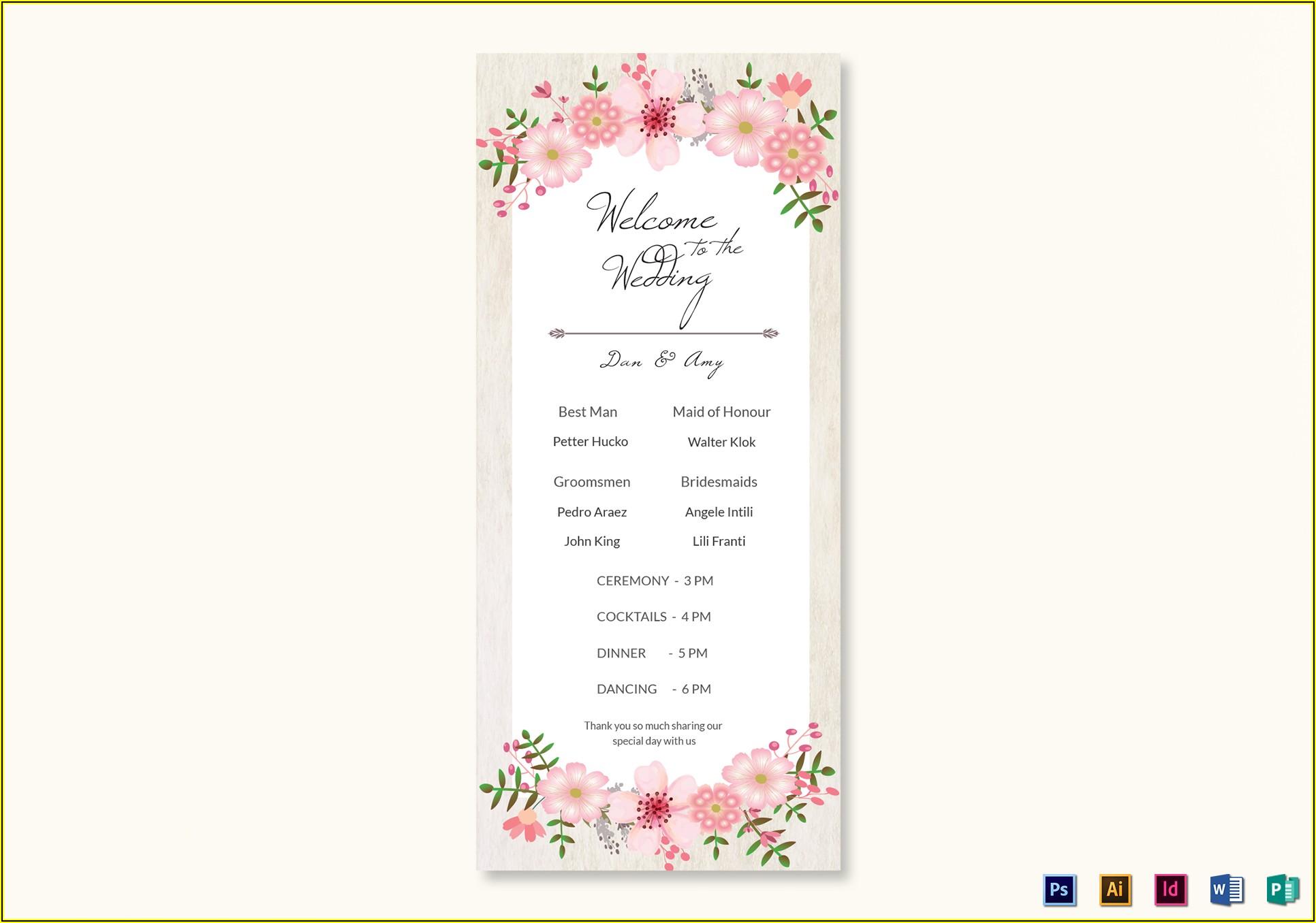 Wedding Program Template Publisher