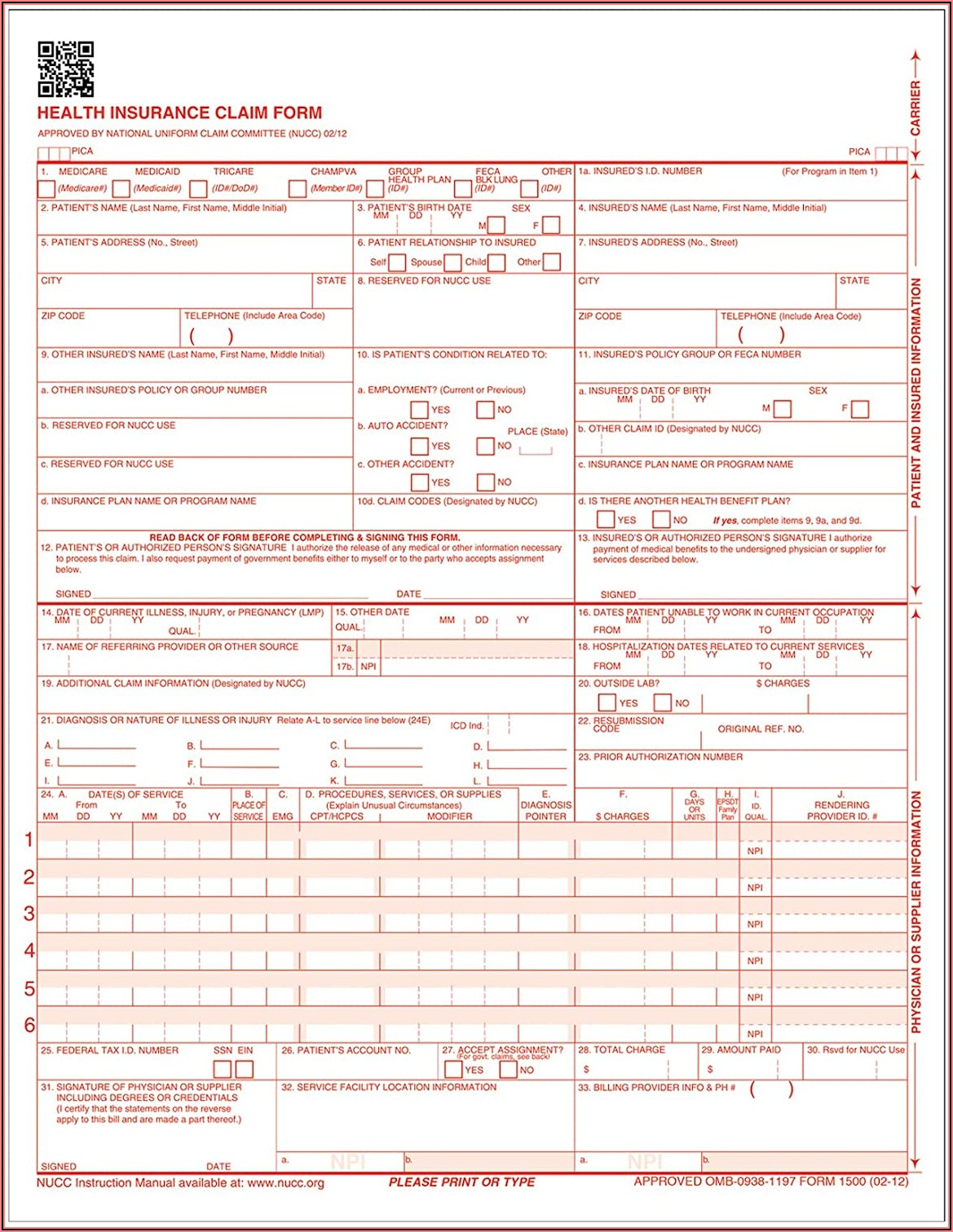 Where To Order Hcfa 1500 Forms