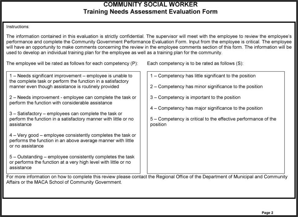 Worker Evaluation Form