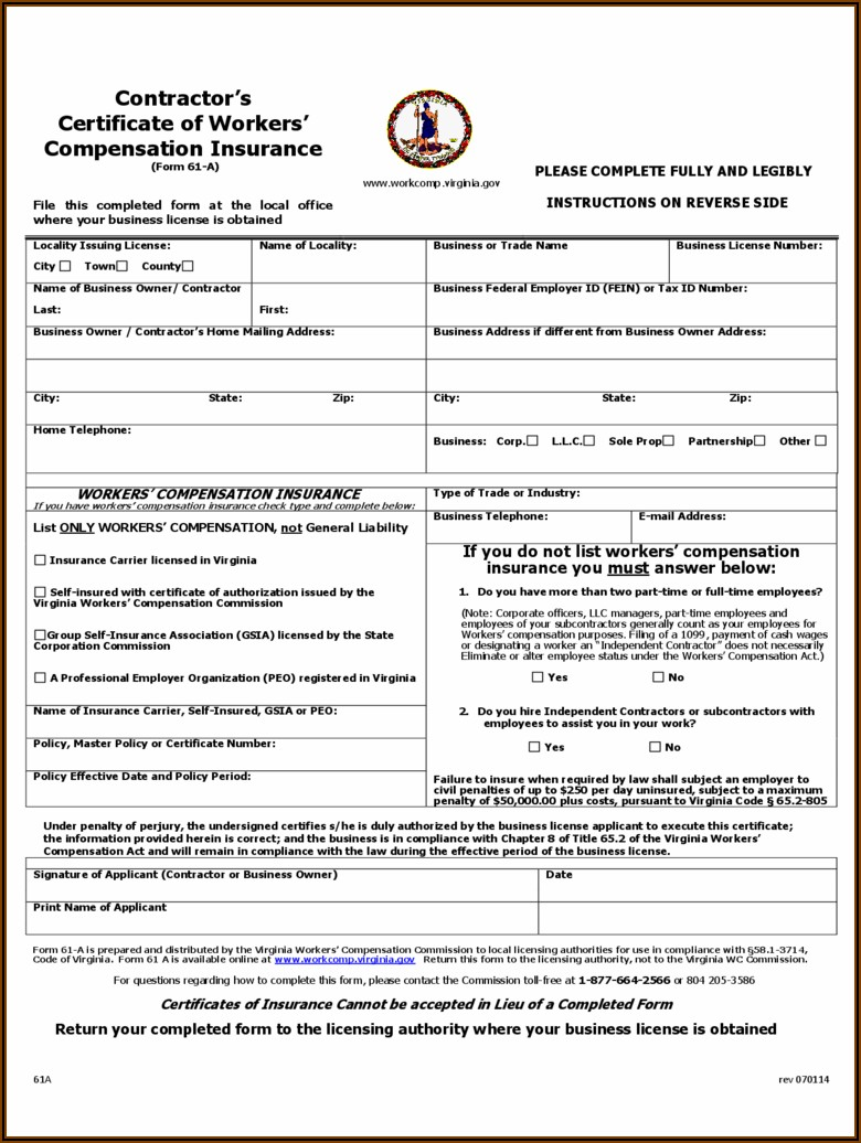 Workers Compensation Forms