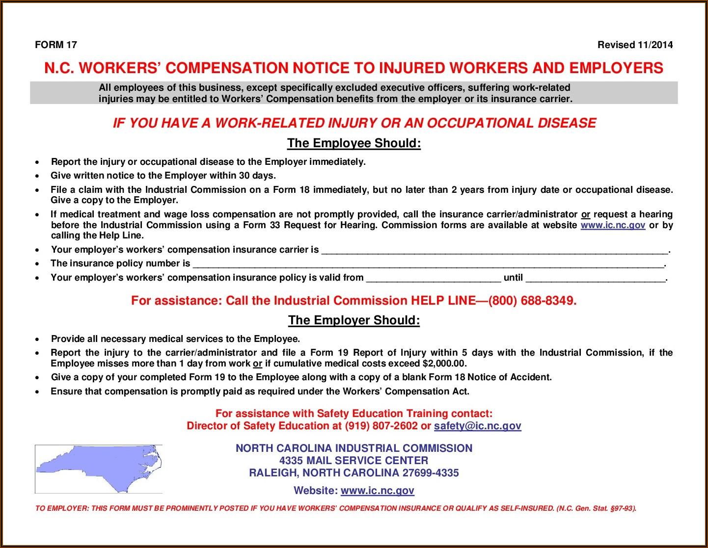 Workmen's Compensation Forms 2021