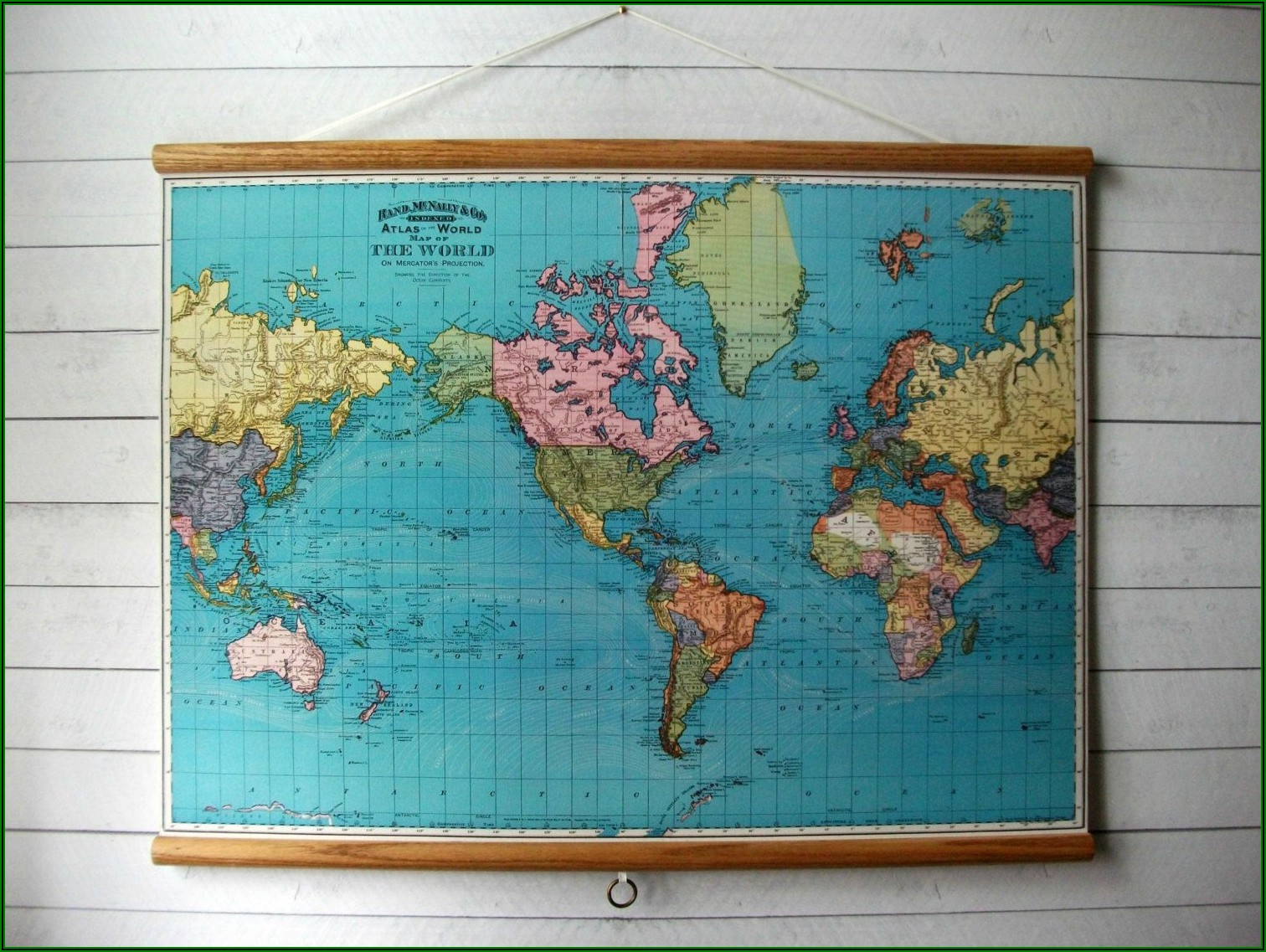 World Map Canvas Wall Hanging