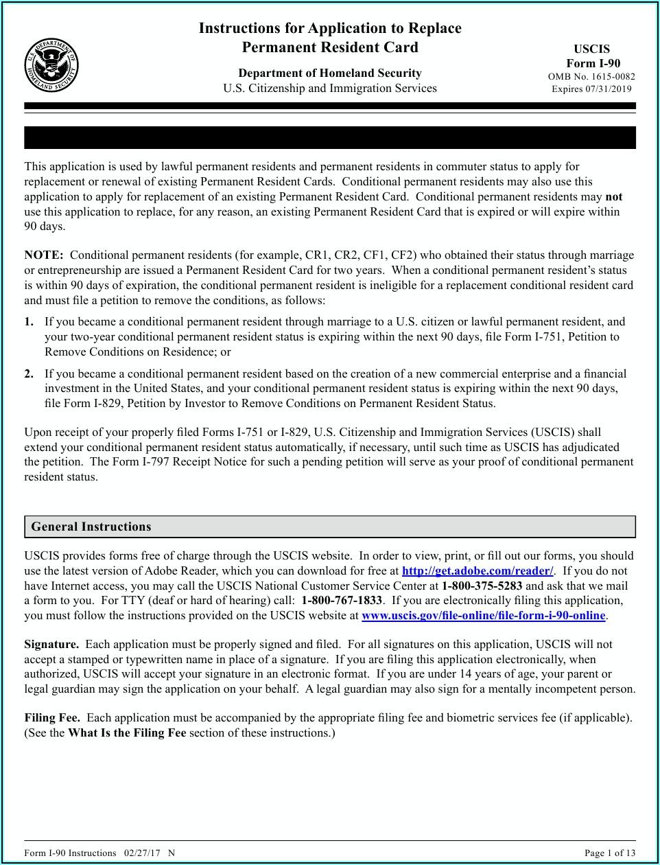 Www.uscis.gov Form I 90