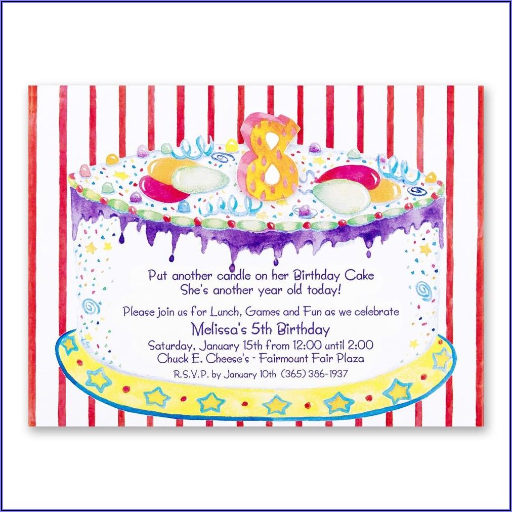 10th Birthday Invitation Message Sample