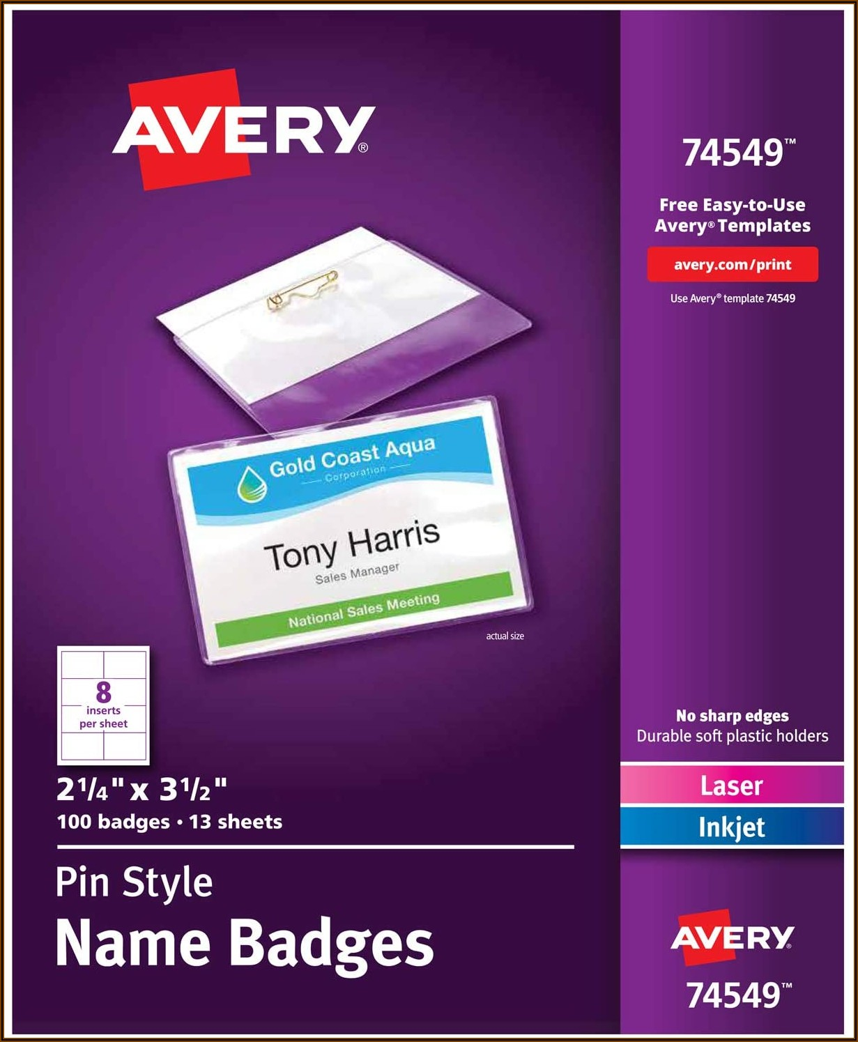 4x3 Name Tag Template Word