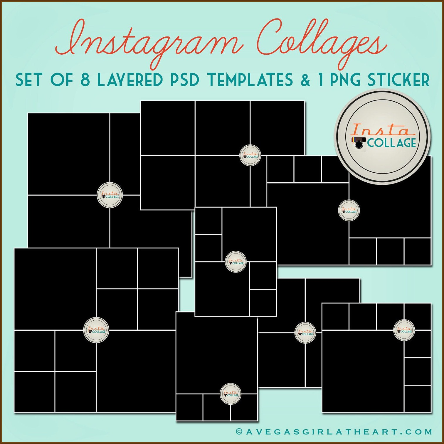 4x6 Collage Template