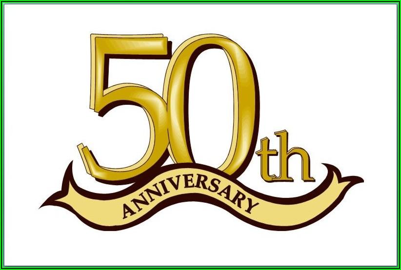 50th Anniversary Logo Templates Free