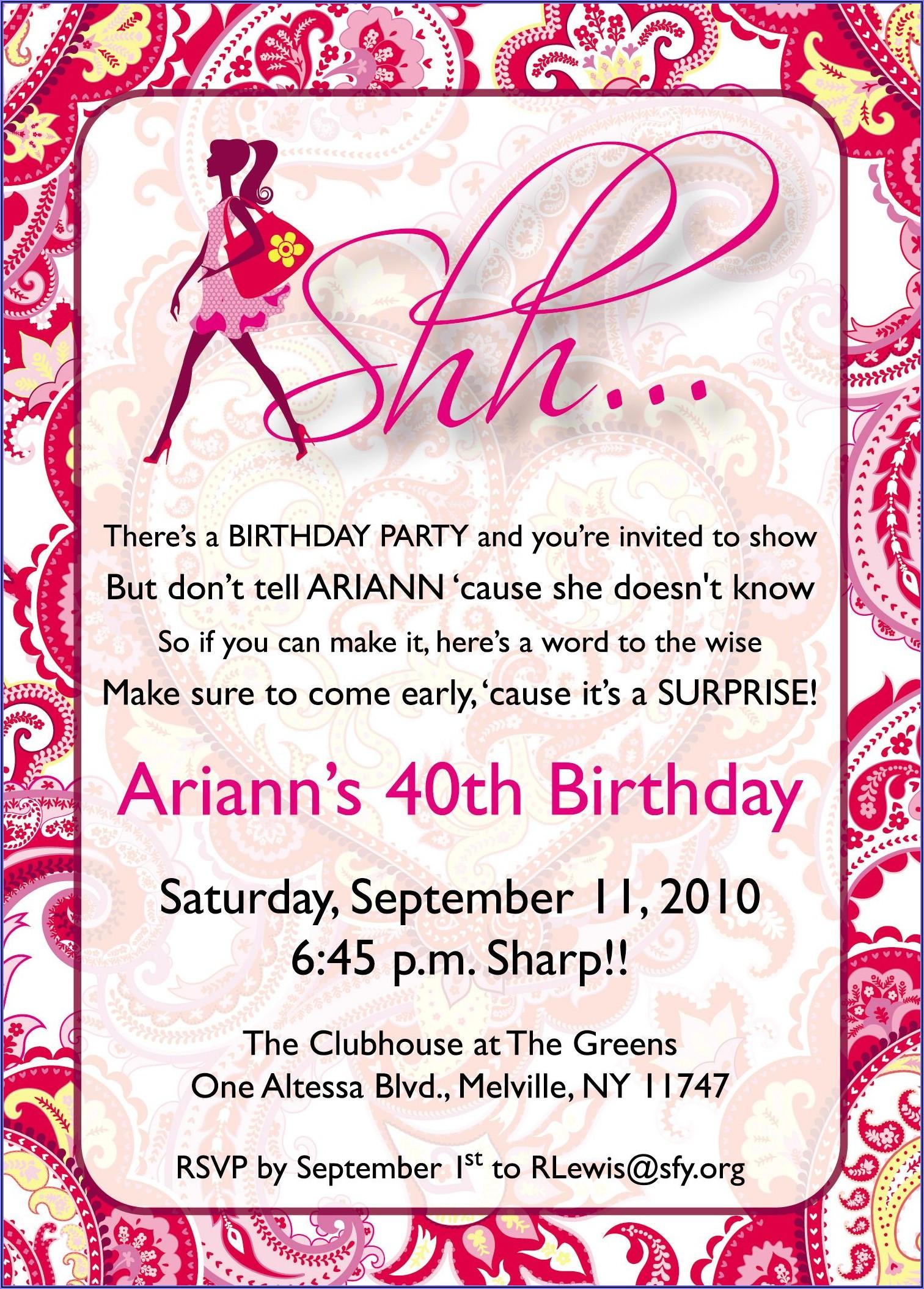 60th Birthday Invitation Wording For Mom
