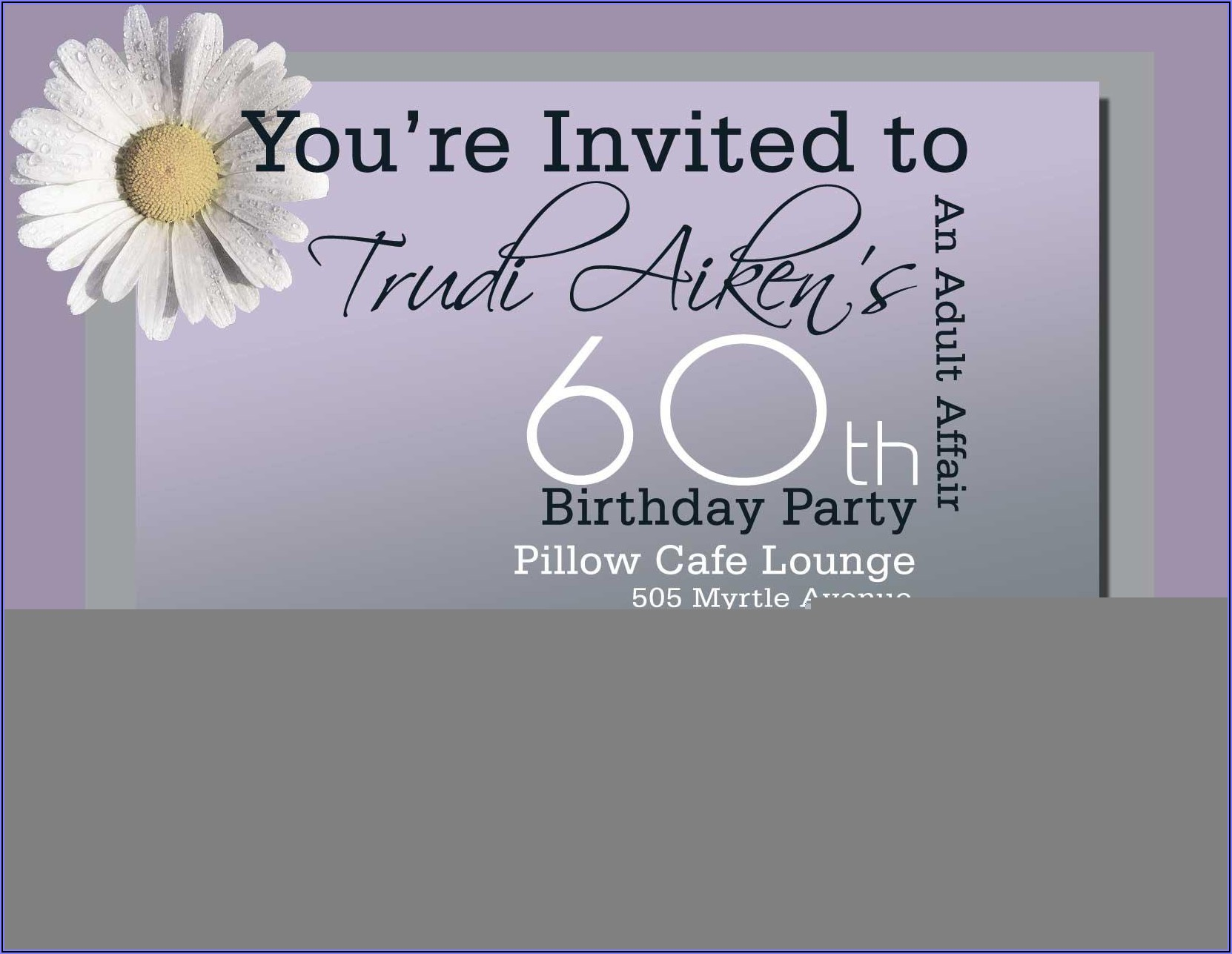 60th Birthday Invitation Wording Samples