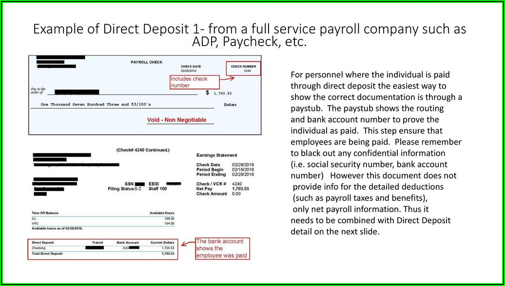 Adp Direct Deposit Form Example