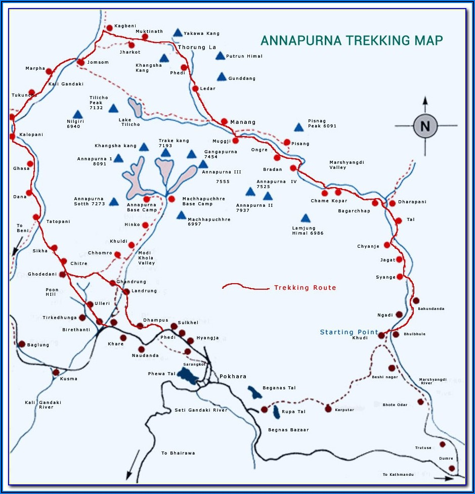 Annapurna Trail Map