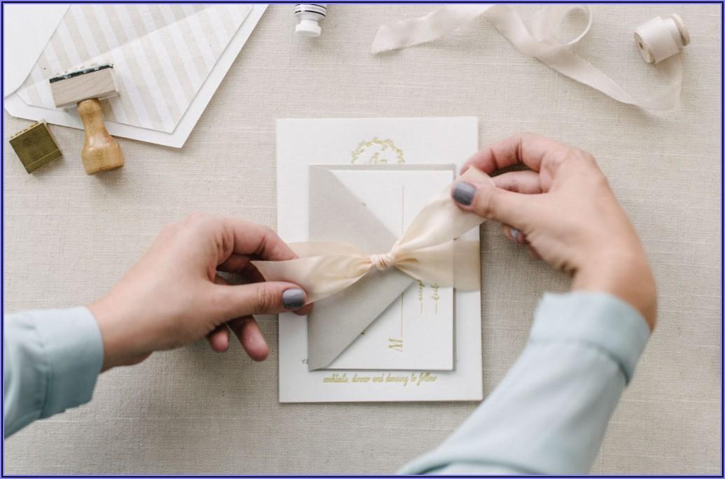 Assembling Wedding Invitations No Inner Envelope