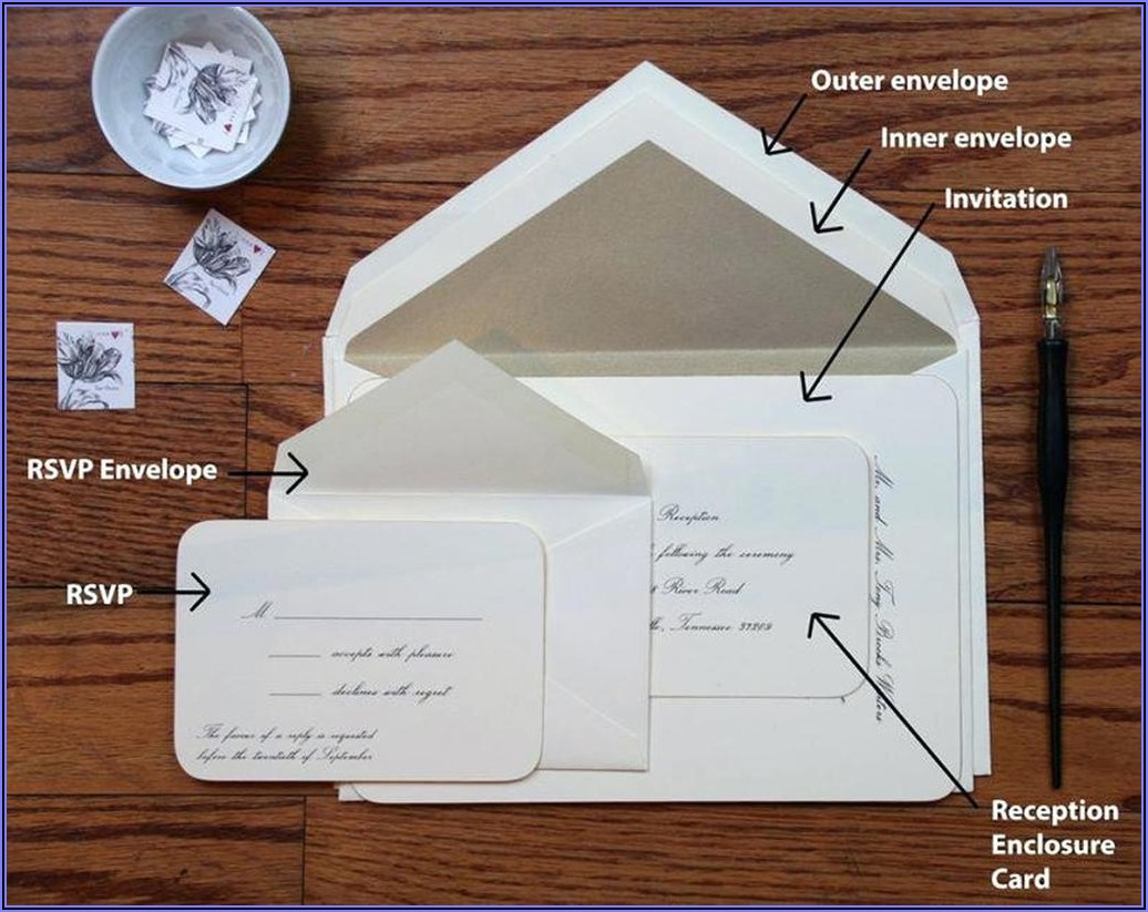 Assembling Wedding Invitations With Inner Envelope
