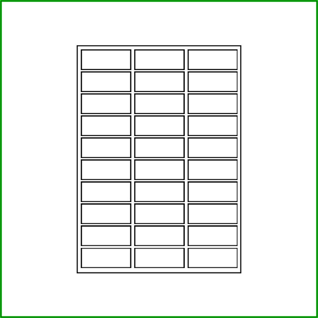 Avery 5160 Compatible Template
