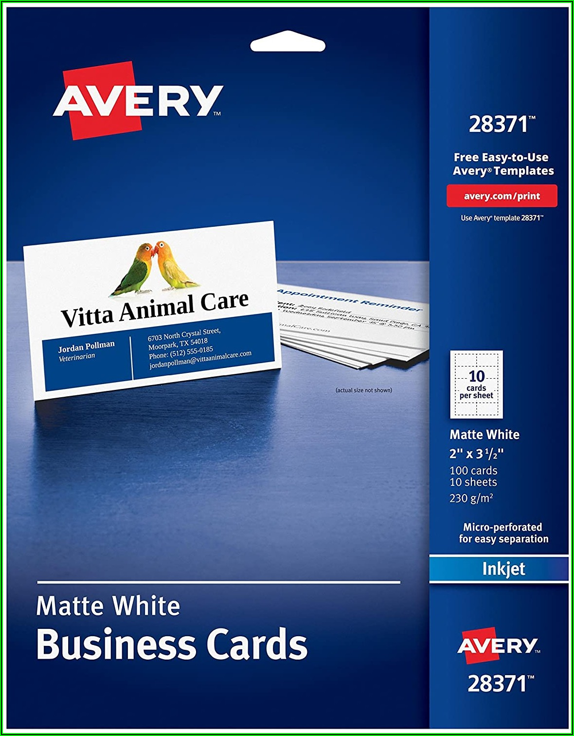 Avery Business Card Stock Template