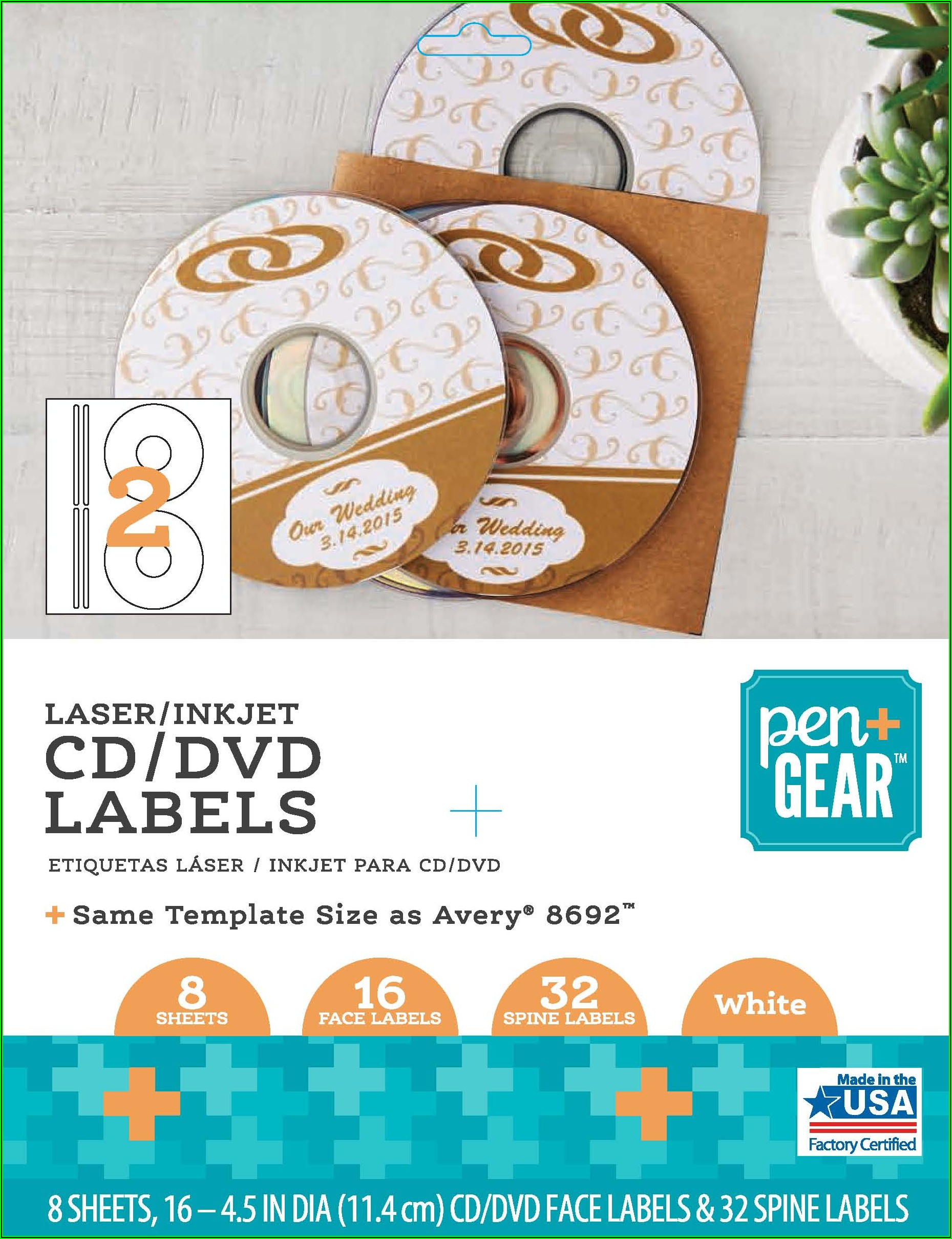 Avery Cd Label Template 8692