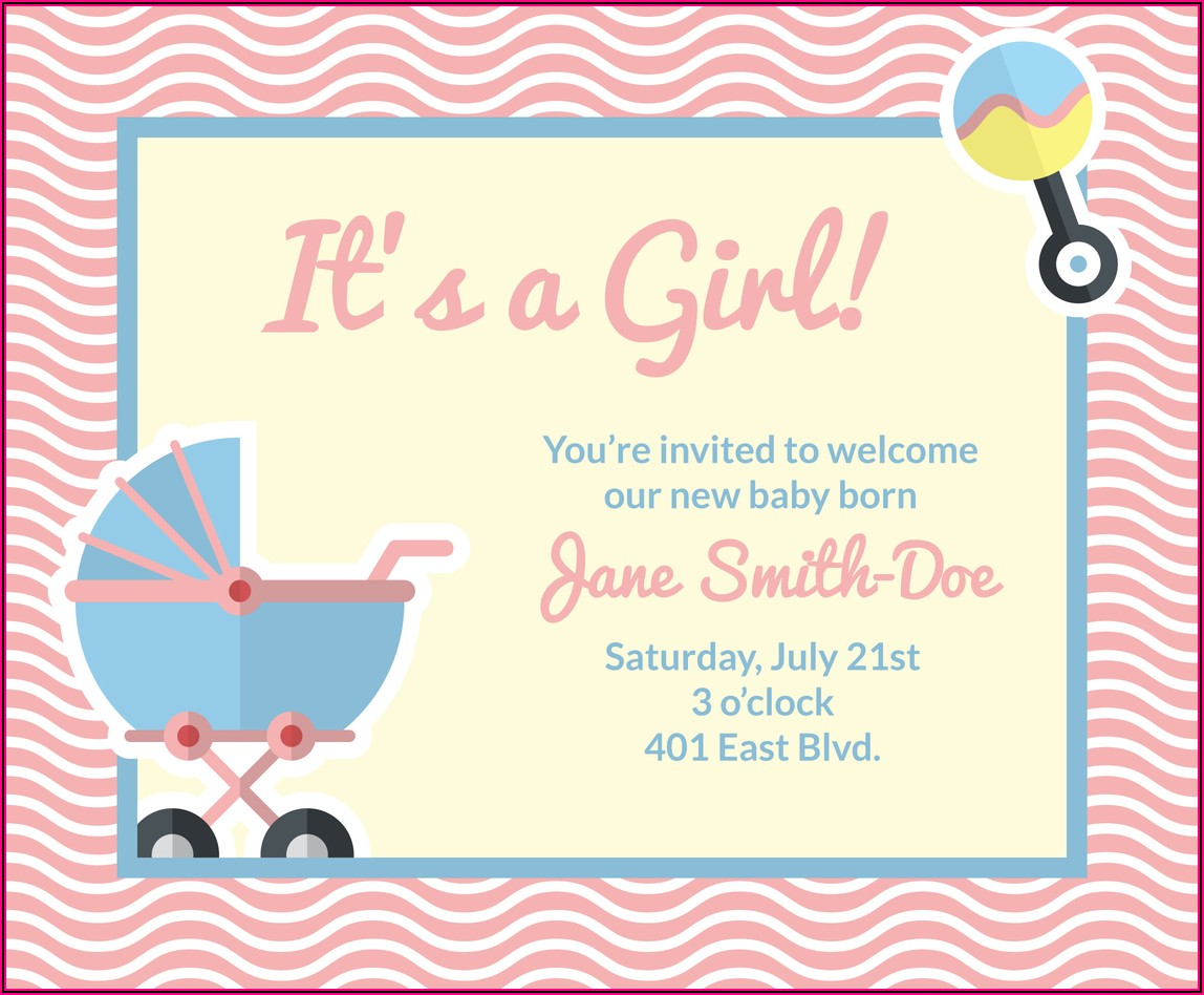 Baby Announcement Cards Free Template