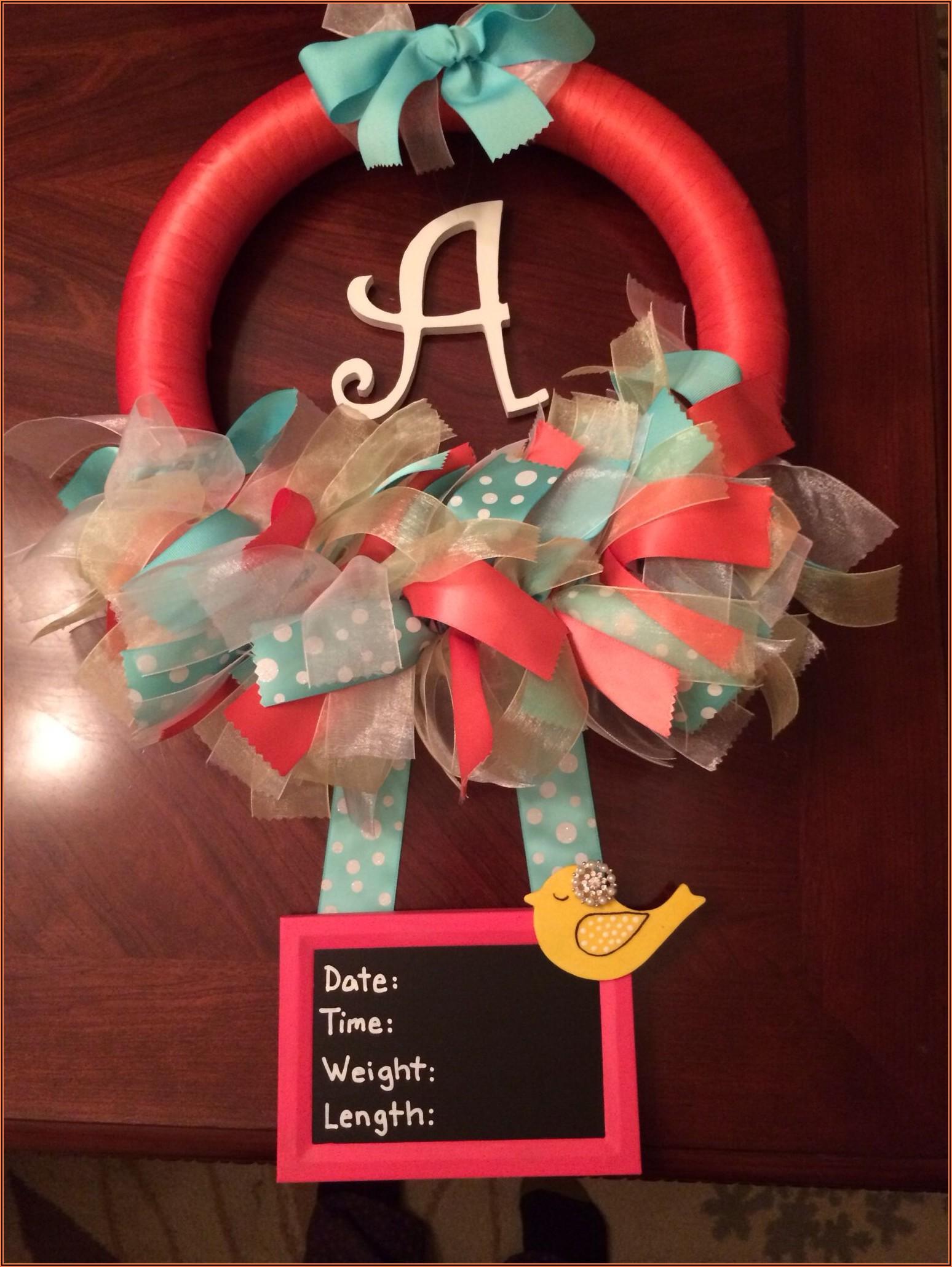 Baby Announcement Door Wreath