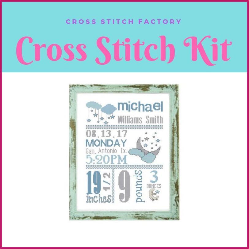 Baby Birth Announcement Cross Stitch Kit