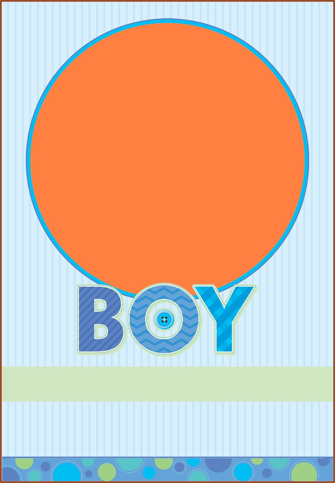 Baby Boy Announcement Template Free
