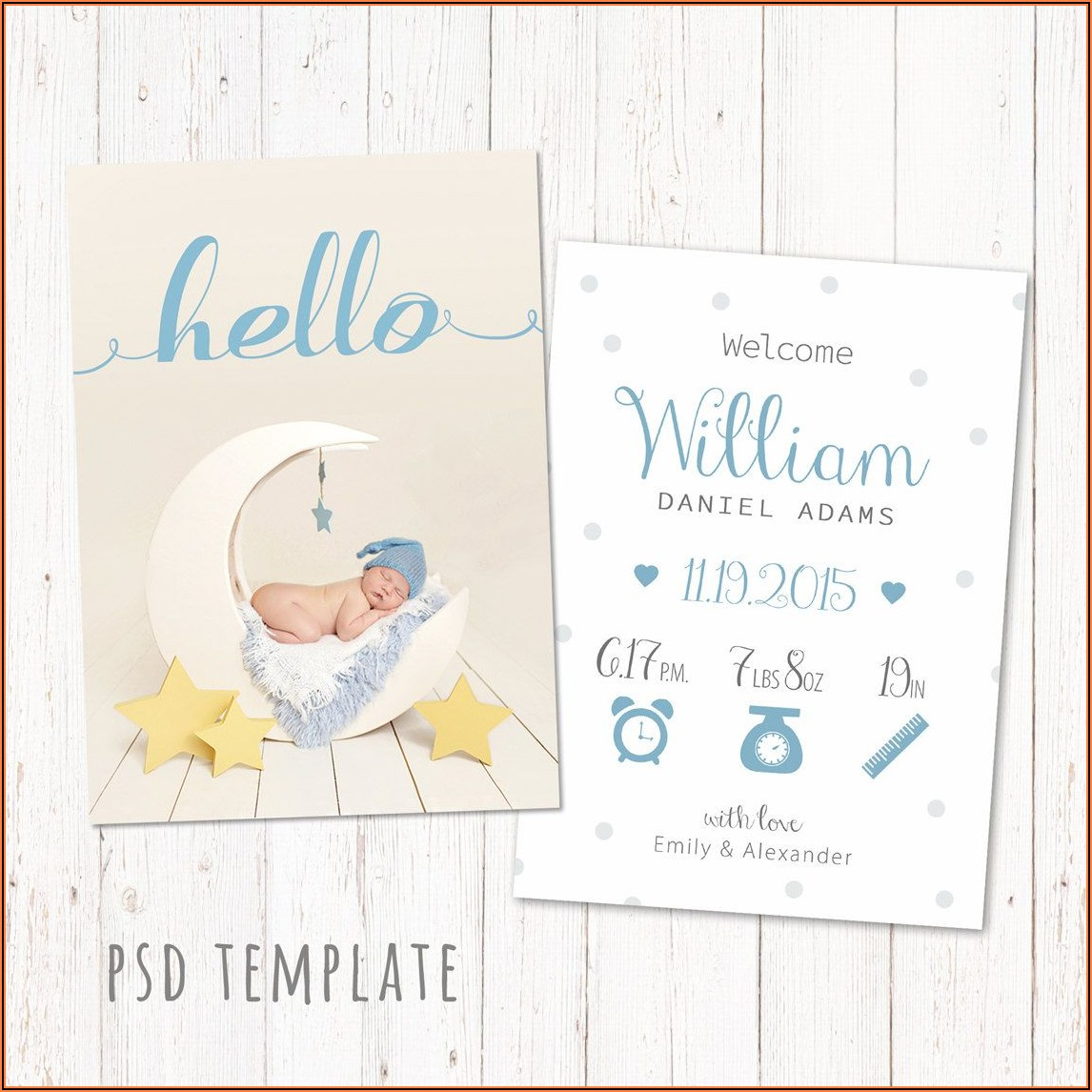 Baby Boy Announcement Template