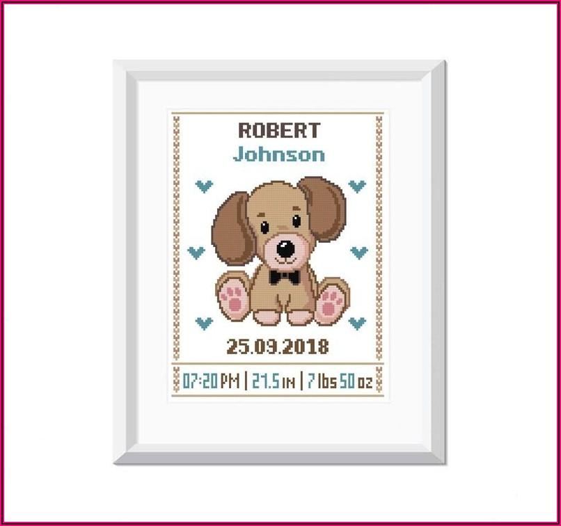 Baby Boy Cross Stitch Birth Announcements