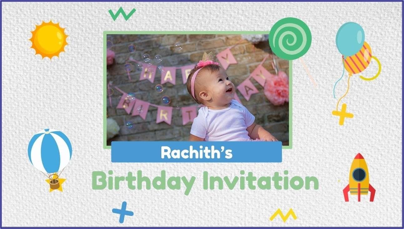Baby First Birthday Invitation Card Maker