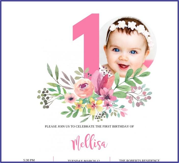 Baby First Birthday Invitation Card Matter In Hindi