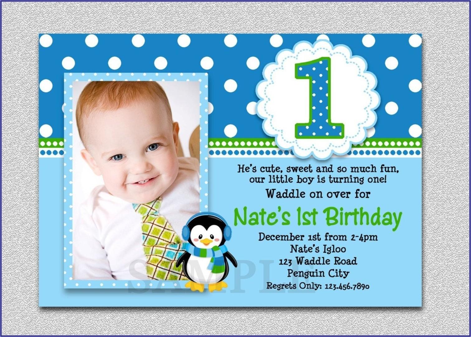 Baby First Birthday Invitation Card Matter