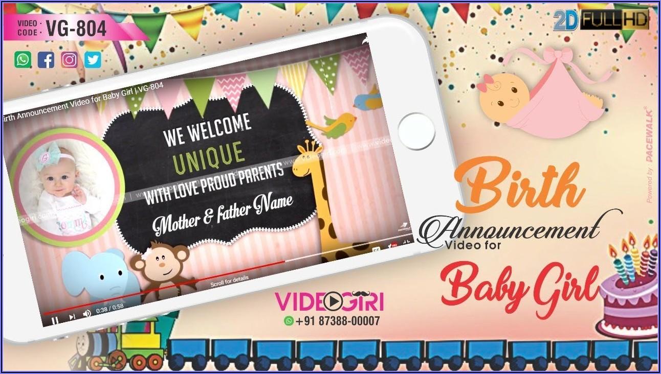 Baby First Birthday Invitation Video