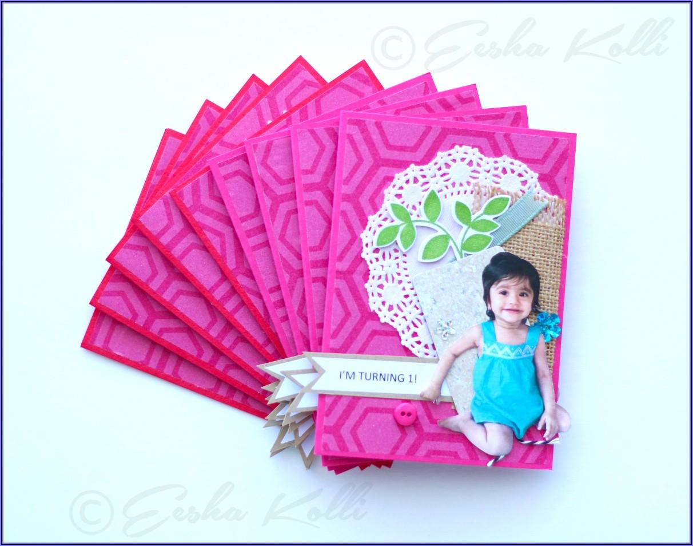 Baby Girl Birthday Invitations