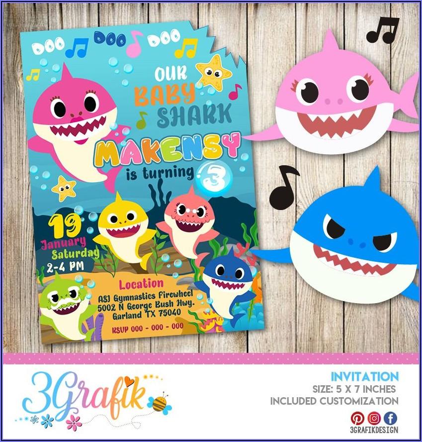 Baby Shark Birthday Invitations Online