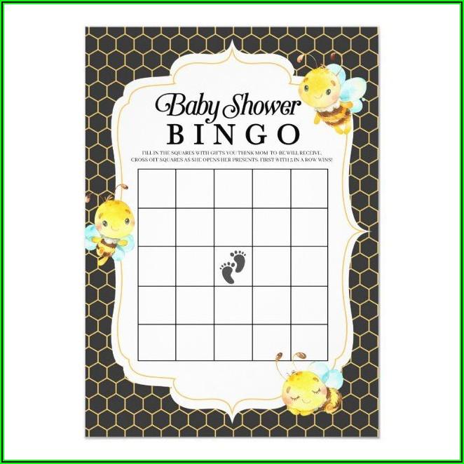 Baby Shower Bingo Invitation Template