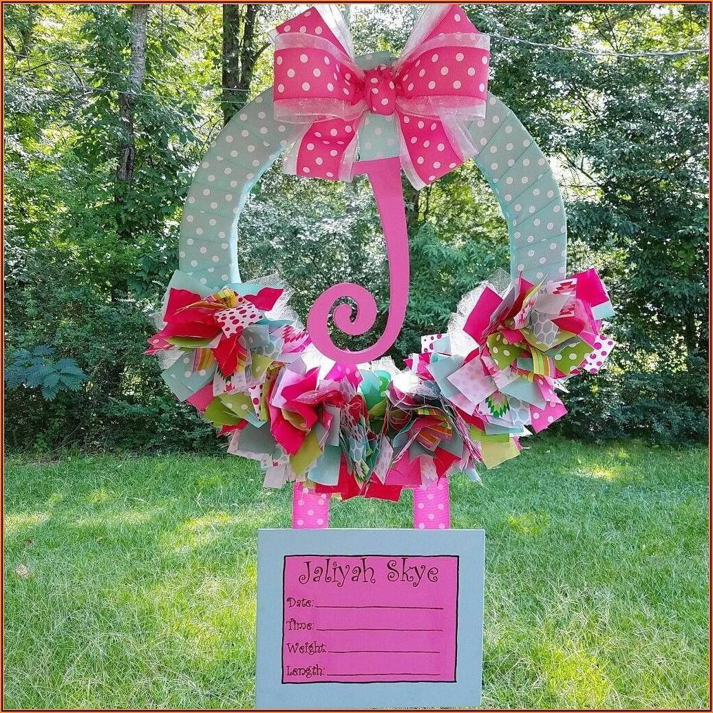 Birth Announcement Door Wreaths