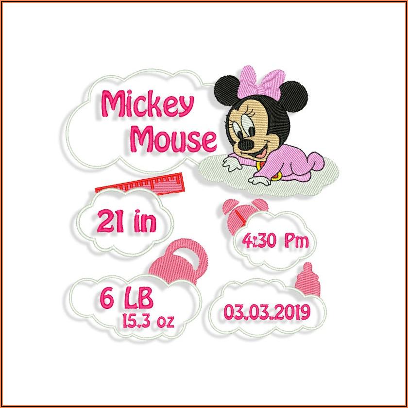 Birth Announcement Embroidery Designs