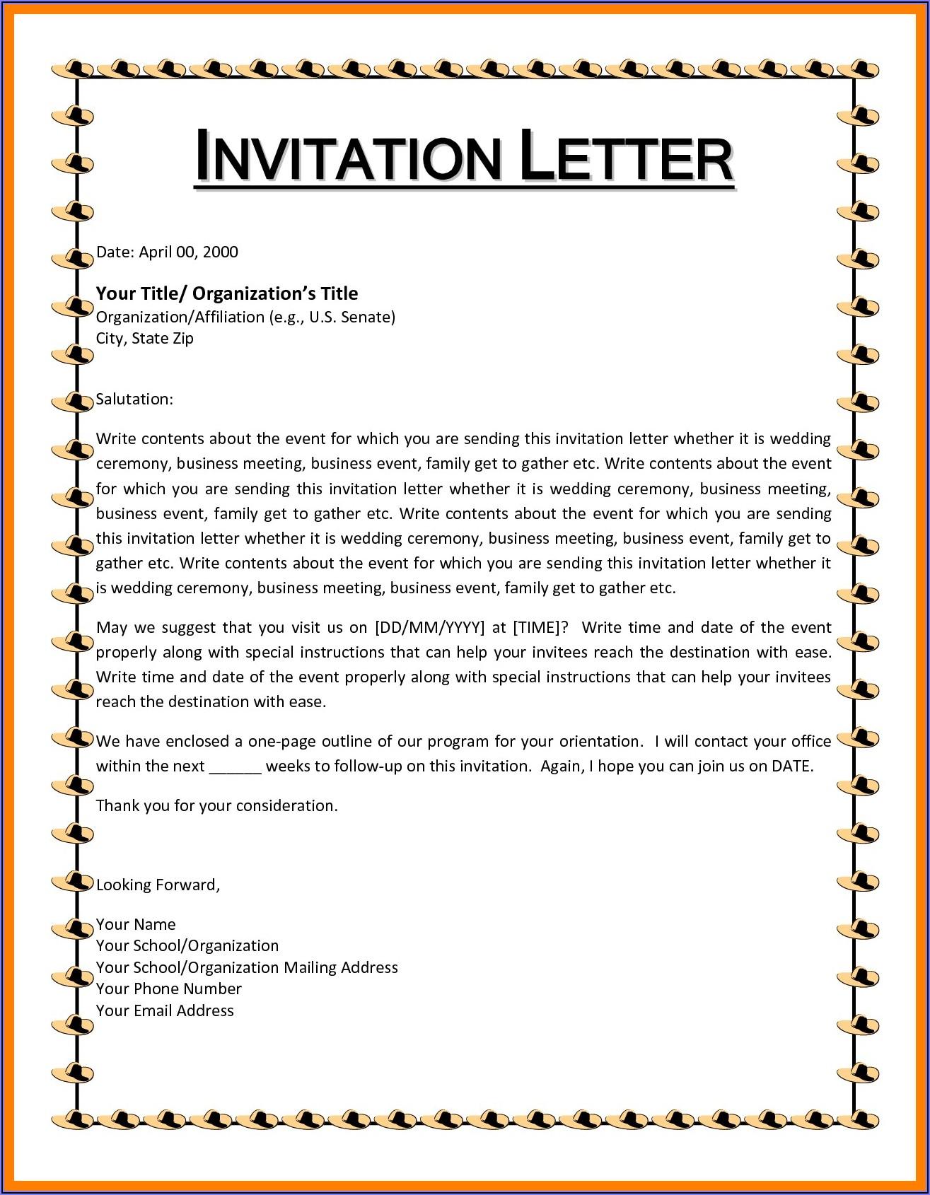 Birthday Party Invitation Message Sample
