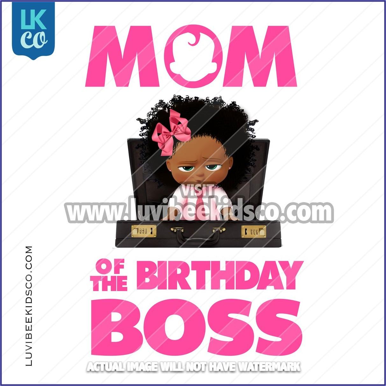 Black Boss Baby Birthday Invitations
