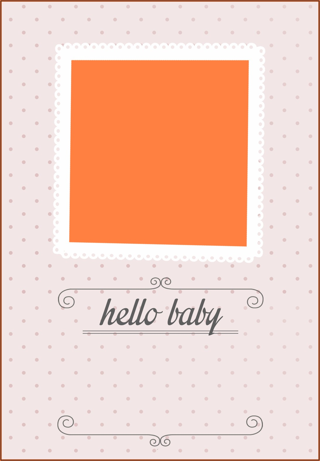 Blank Baby Boy Announcement Template