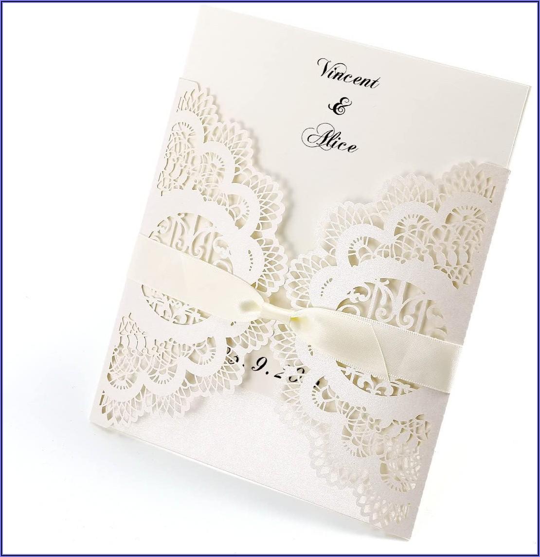 Blank Laser Cut Wedding Invitations Uk