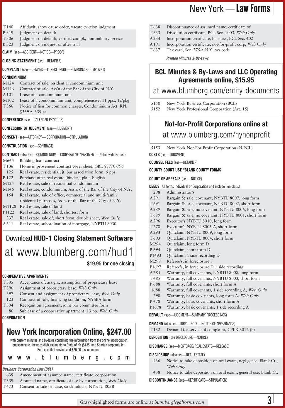 Blumberg Lease Form 35