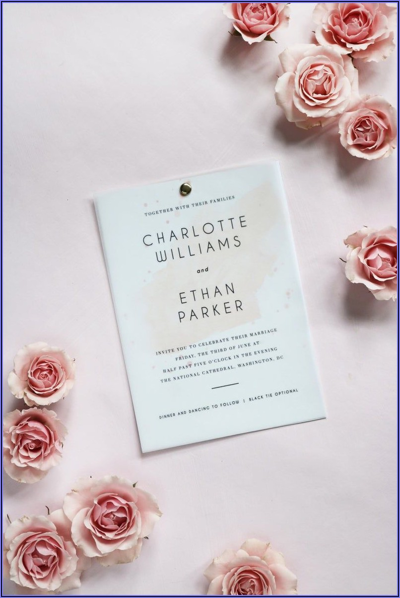 Blush Pink Diy Wedding Invitations
