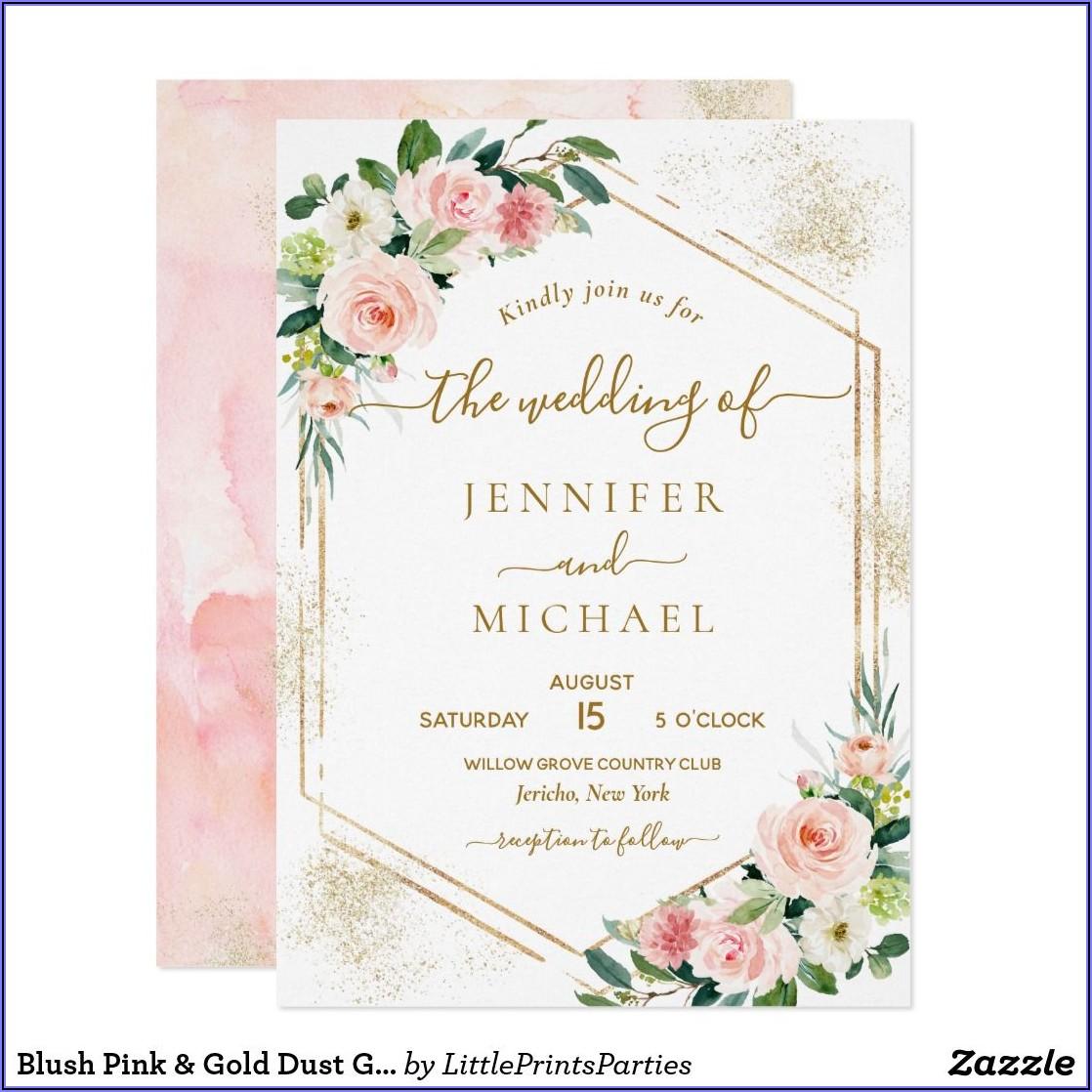 Blush Pink Wedding Invitations