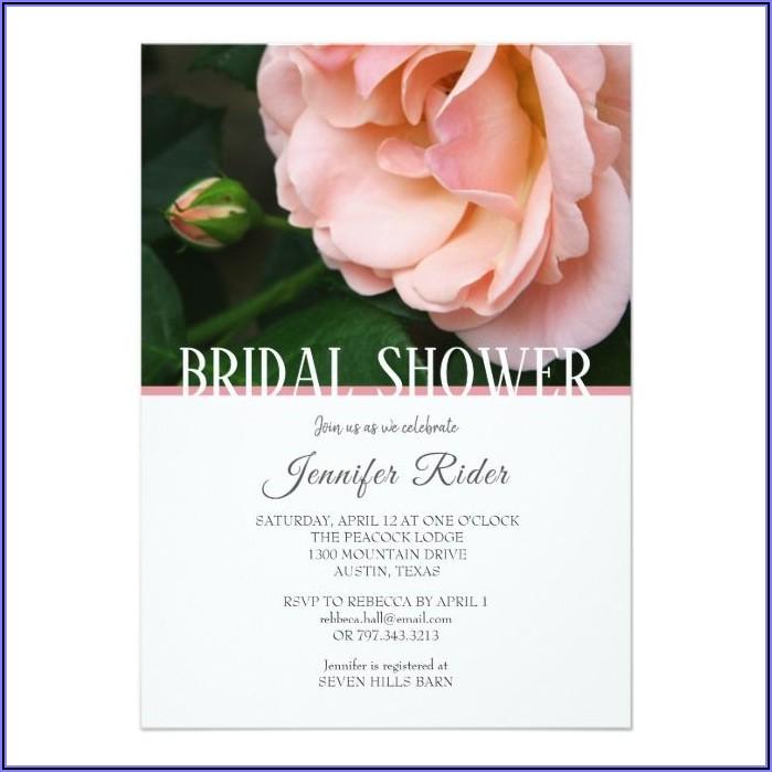 Blush Pink Wedding Shower Invitations