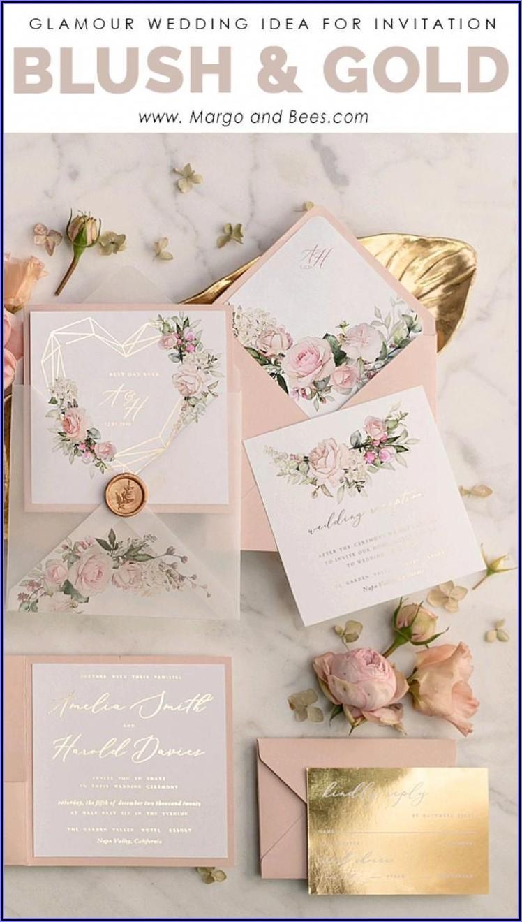 Blush Wedding Invitations Uk