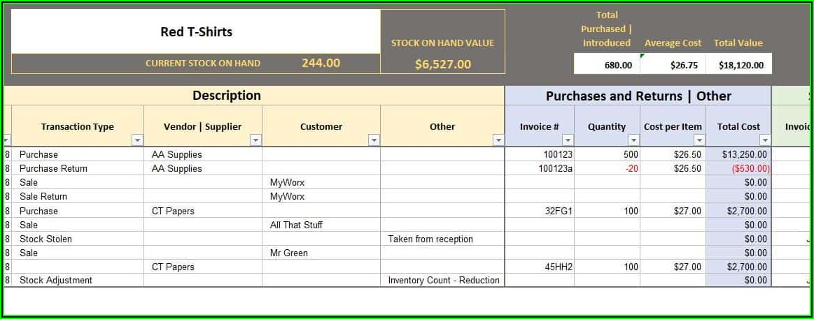 Bookkeeping Journal Excel Template