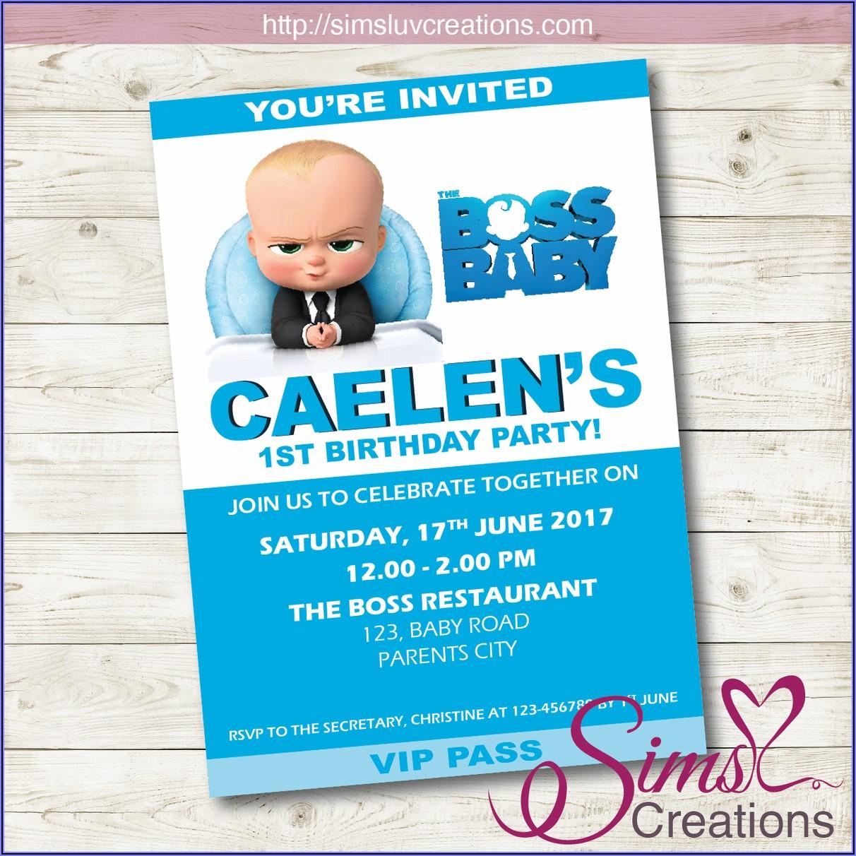 Boss Baby 2nd Birthday Invitations