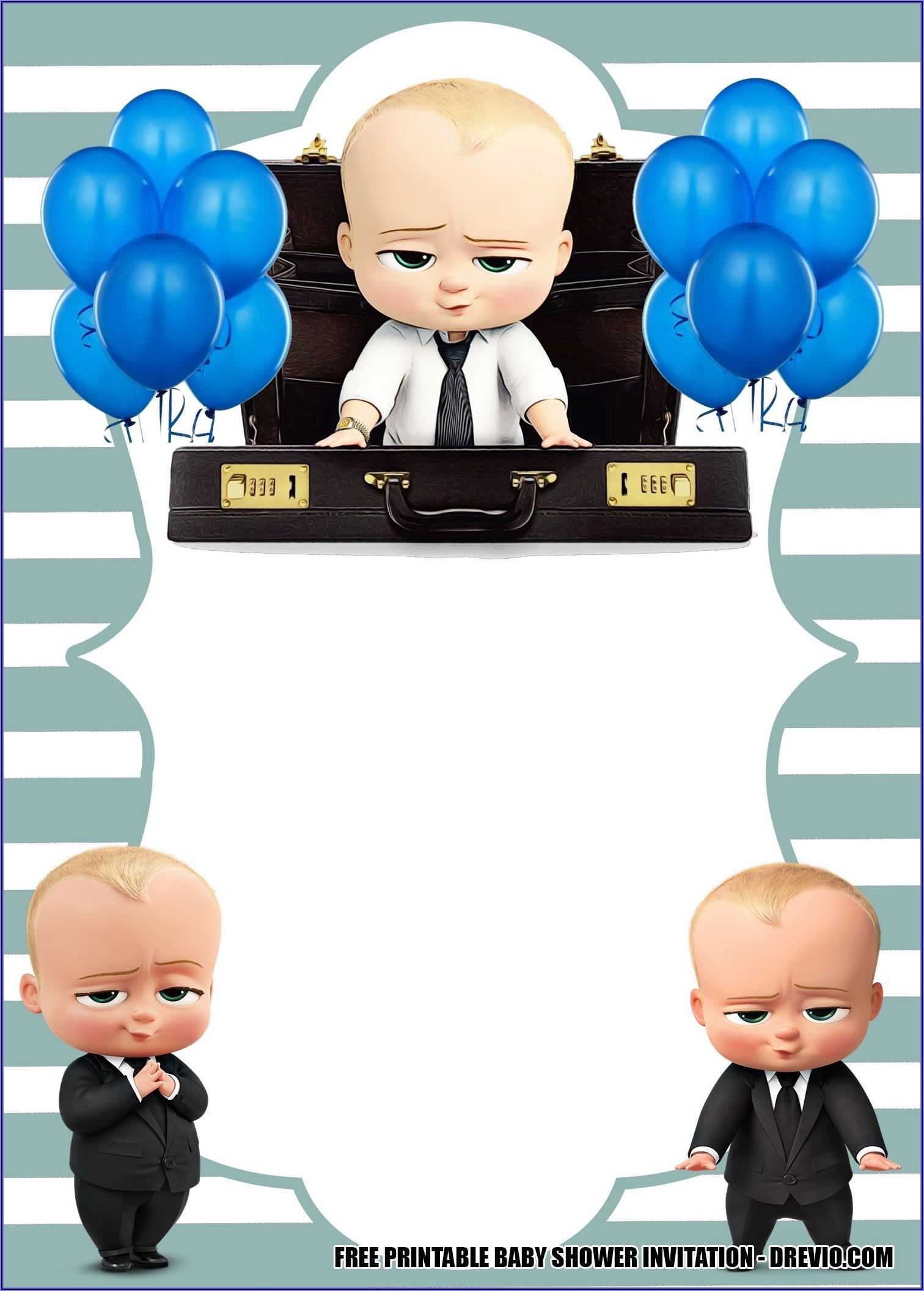 Boss Baby Birthday Invitations Free