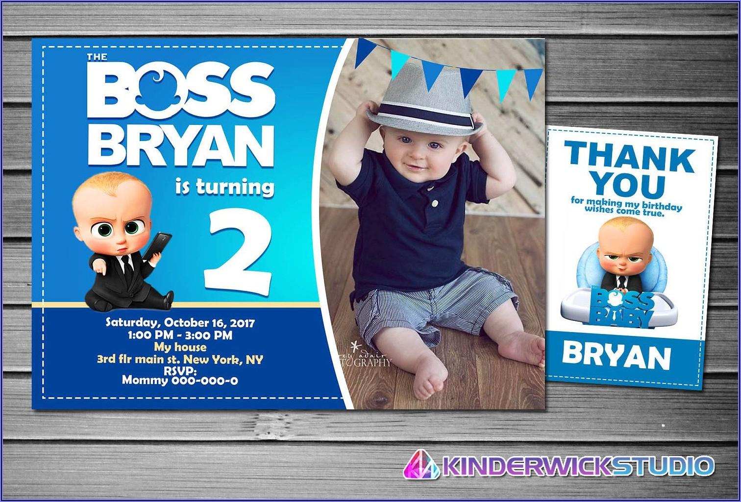 Boss Baby Birthday Party Invitations