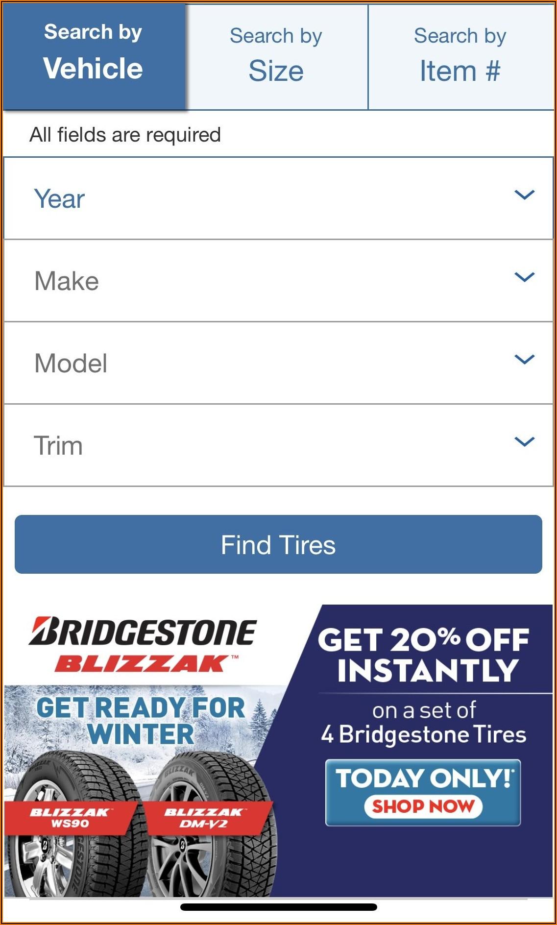 Bridgestone Tire Rebate Form 2019