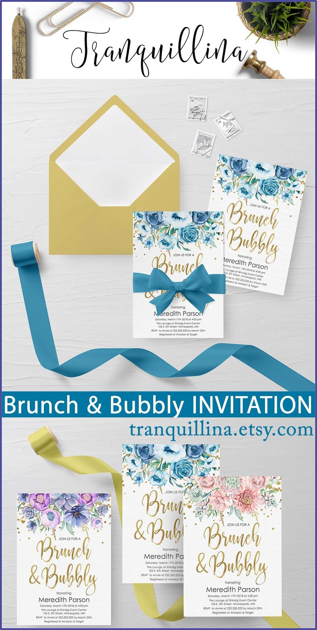 Brunch And Bubbly Baby Shower Invitations